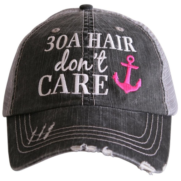 30A Hair Don t Care - Women s Distressed hat 3705c65e8ef